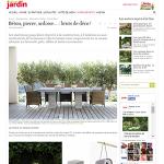 Jardinchic sur le site web Détente Jardin «Sélection Béton, Pierre, Ardoise: Bruts de Déco!»